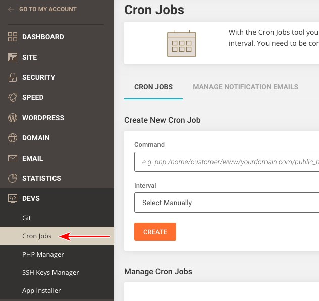SiteGround cron jobs