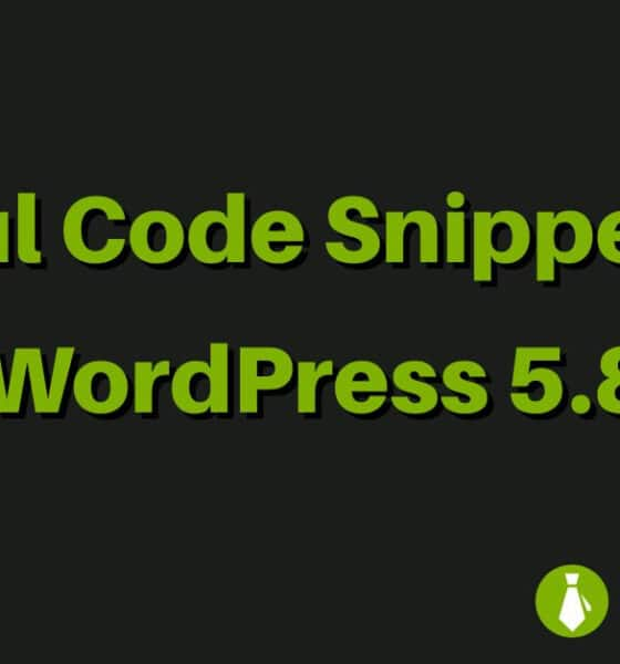 Useful Code Snippets for WordPress 5.8