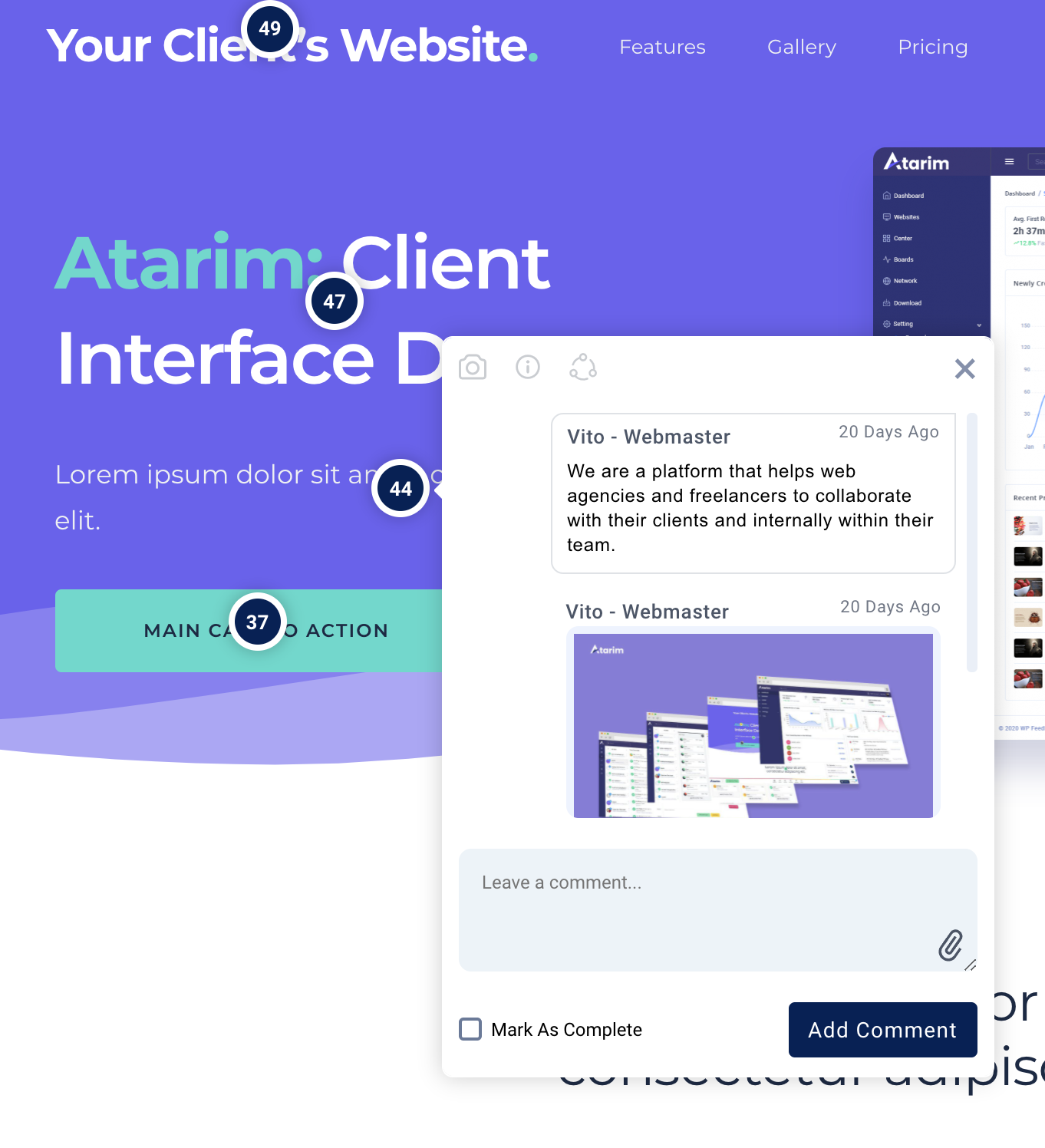 Atarim Visual Feedback