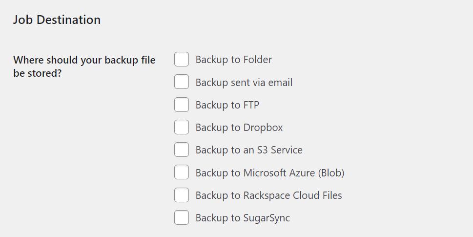 Deciding where to store backup jobs