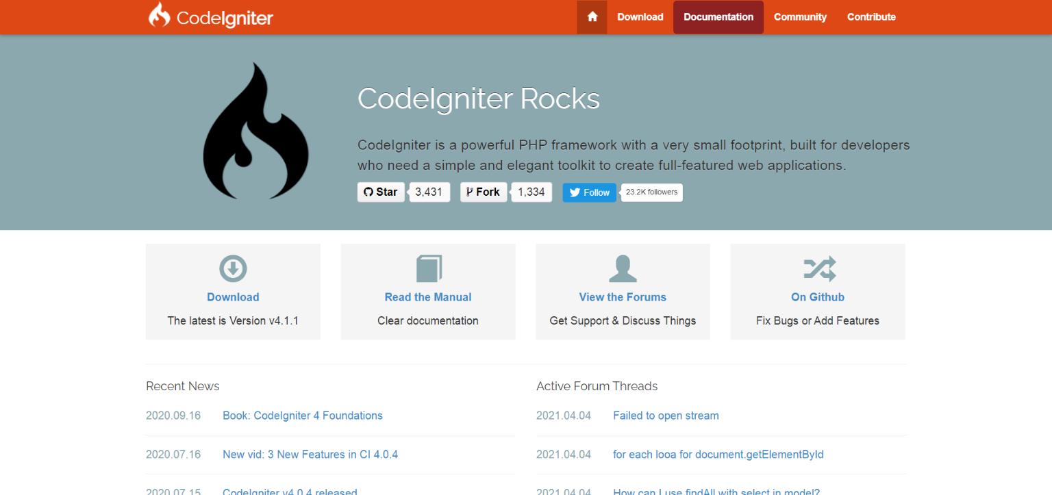 codeigniter php freamwork
