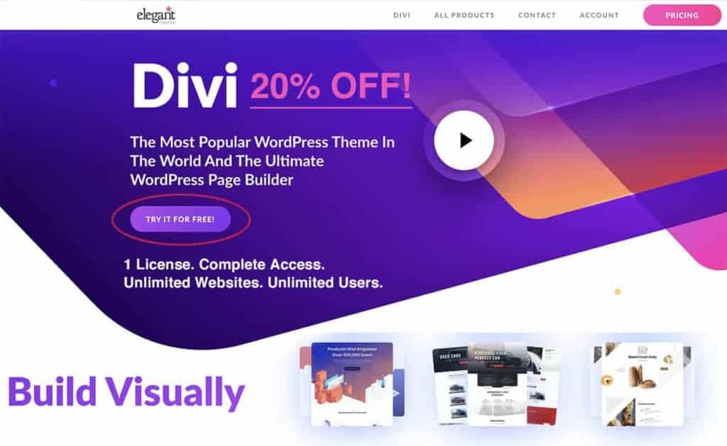 divi elegant themes page builder