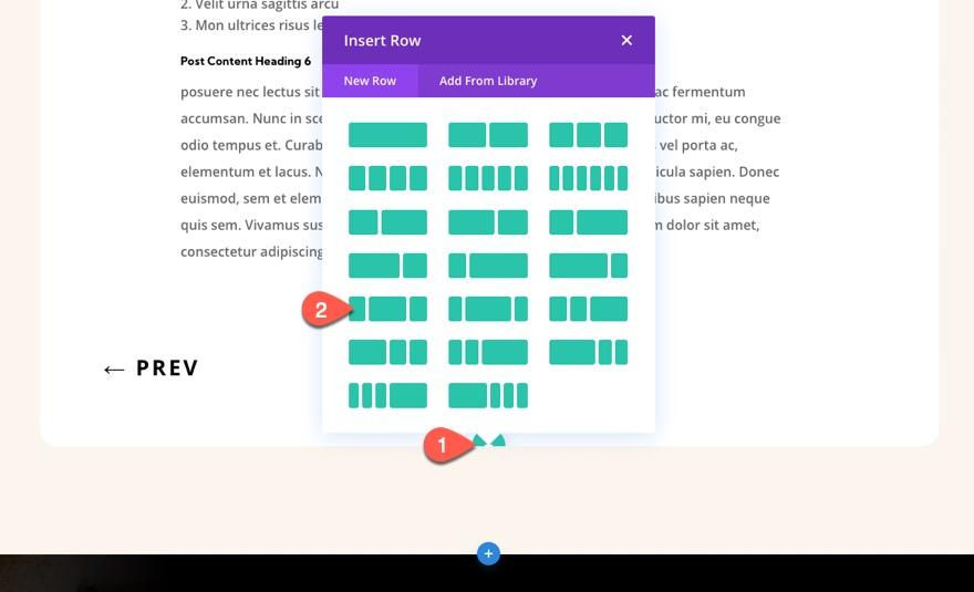 divi sticky post navigation bar