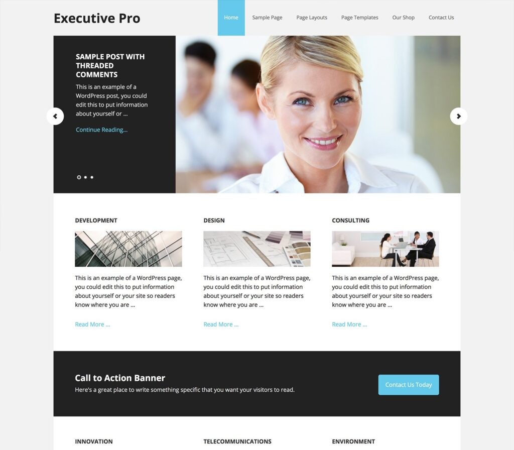 Executive Pro theme