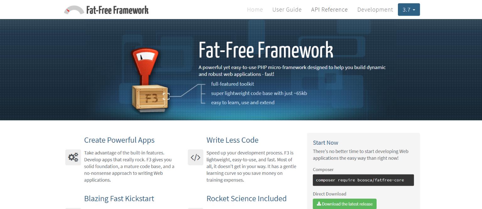 fat free php freamwork
