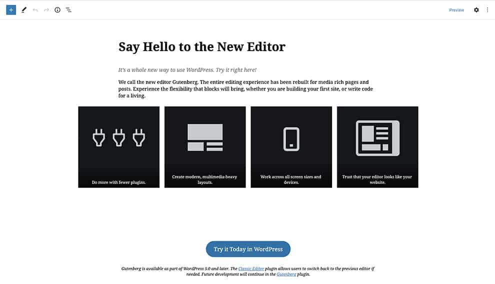 Gutenberg free page builder plugin