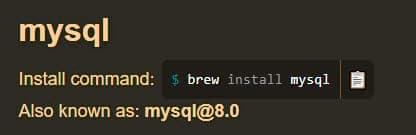 Using Homebrew to install MySQL on Mac