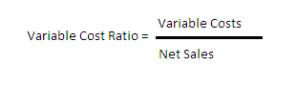 Variable Cost Ratio Formula
