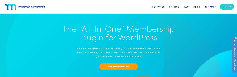 The MemberPress website.