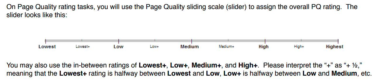 page quality scale