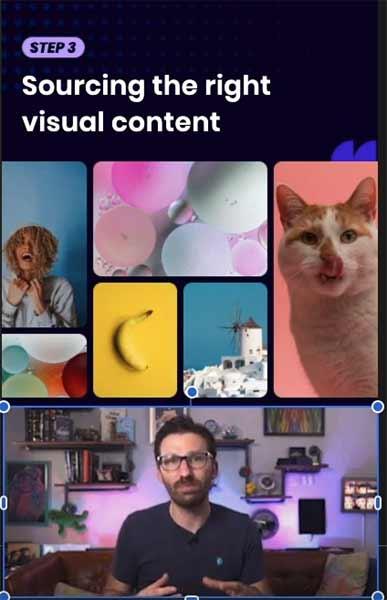 Screenshot of visual editor