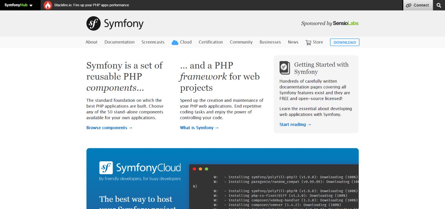 symfony php freamwork