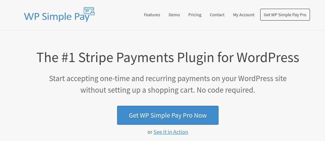 The WP SImple Pay website.
