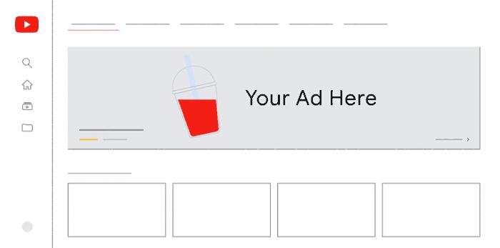 Screenshot of a YouTube Masthead Ad for TV