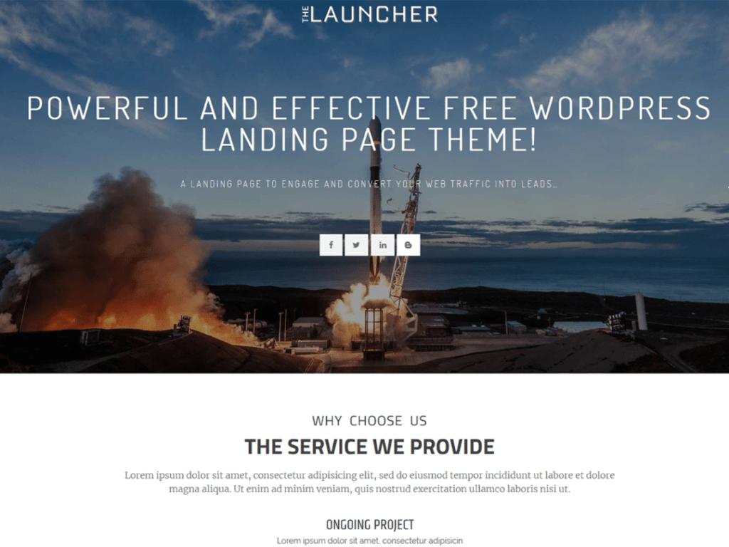 the launcher free WordPress theme
