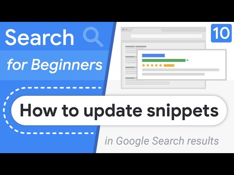 How to change my Google Search result snippet? | Search for Beginners Ep 10