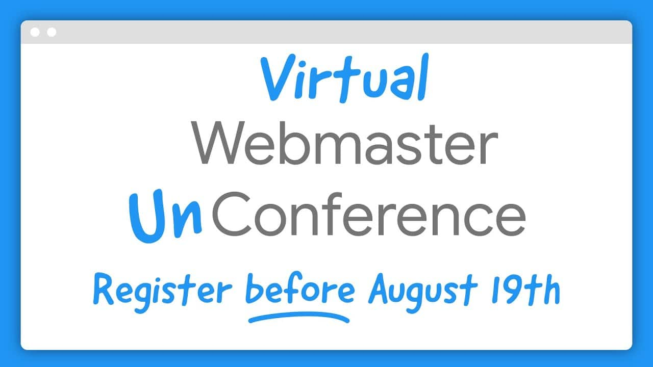 Announcing the Virtual Webmaster Unconference