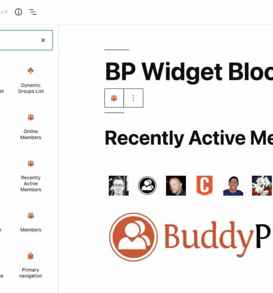 BuddyPress 9.0.0 Transforms Legacy Widgets Into Blocks