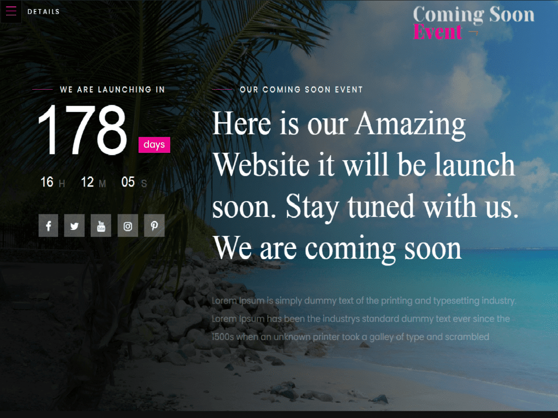3+ Best Free Under Construction & Coming Soon WordPress Themes 2021