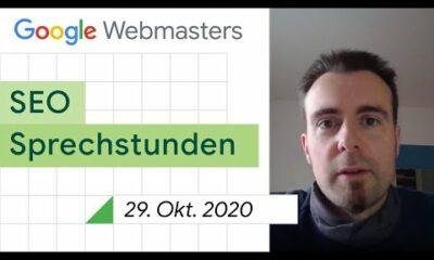 German / Google SEO Sprechstunden auf Deutsch vom 29. Oktober 2020