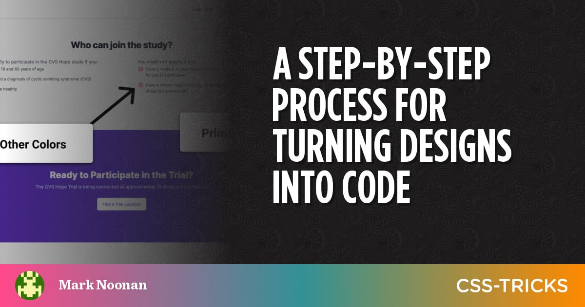 A Step-By-Step Process for Turning Designs Into Code