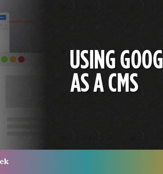 Using Google Drive as a CMS
