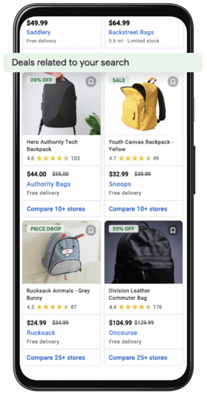 Google Launches Free Deals Listings in Search Results