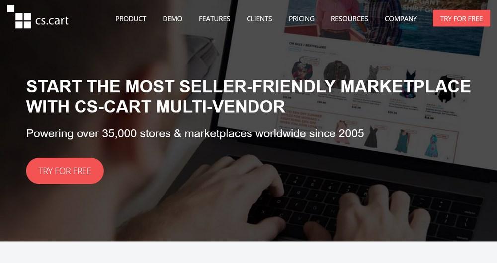 CS-Cart homepage