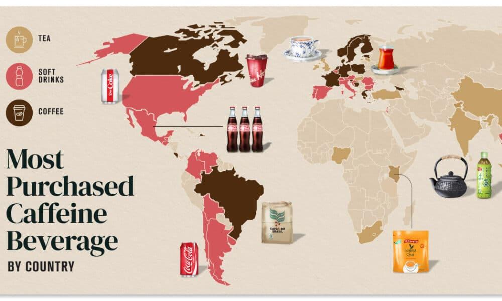Coffee vs Tea vs Soft Drinks: What Caffeine Drinks Do Countries Prefer?