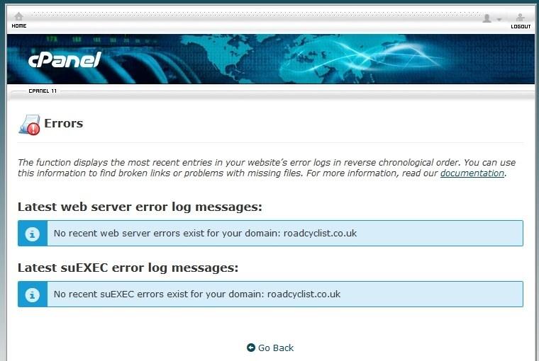 Check Your Server Logs