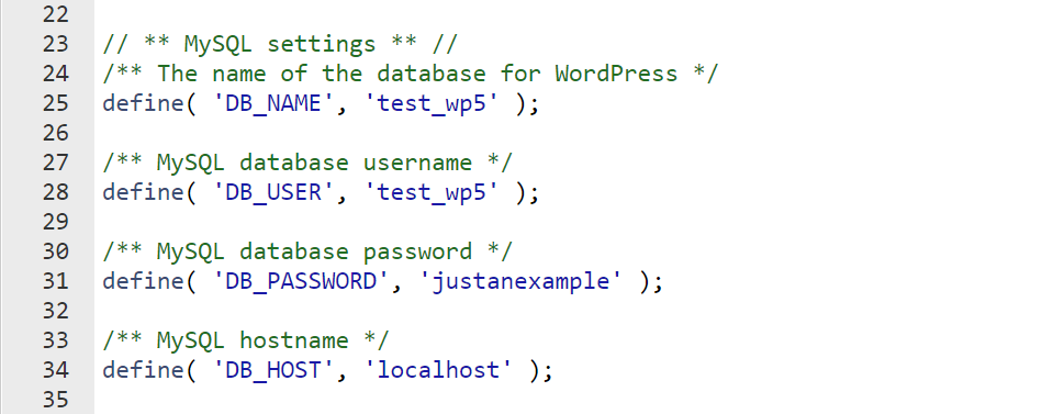 Check the wp-config File