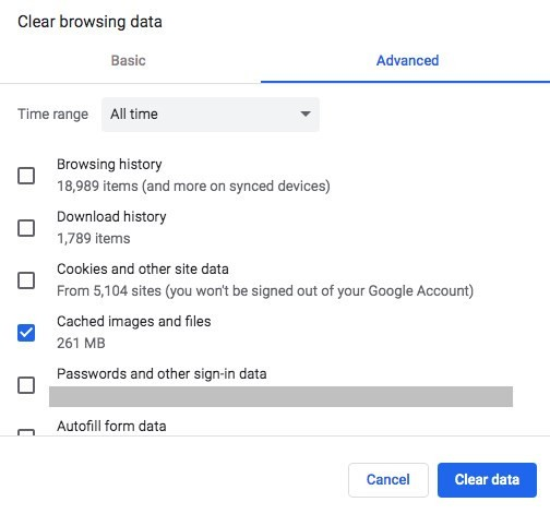 Clear browsing data chrome 2