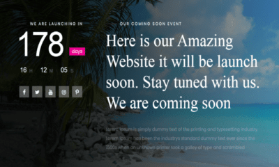 free coming soon WordPress theme