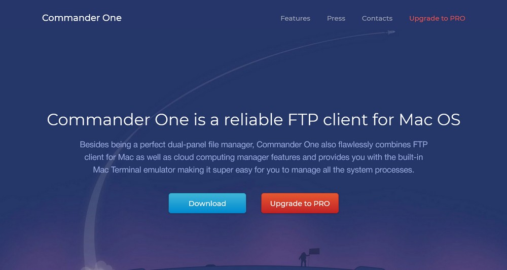 Commander One FTP client for Mac OS