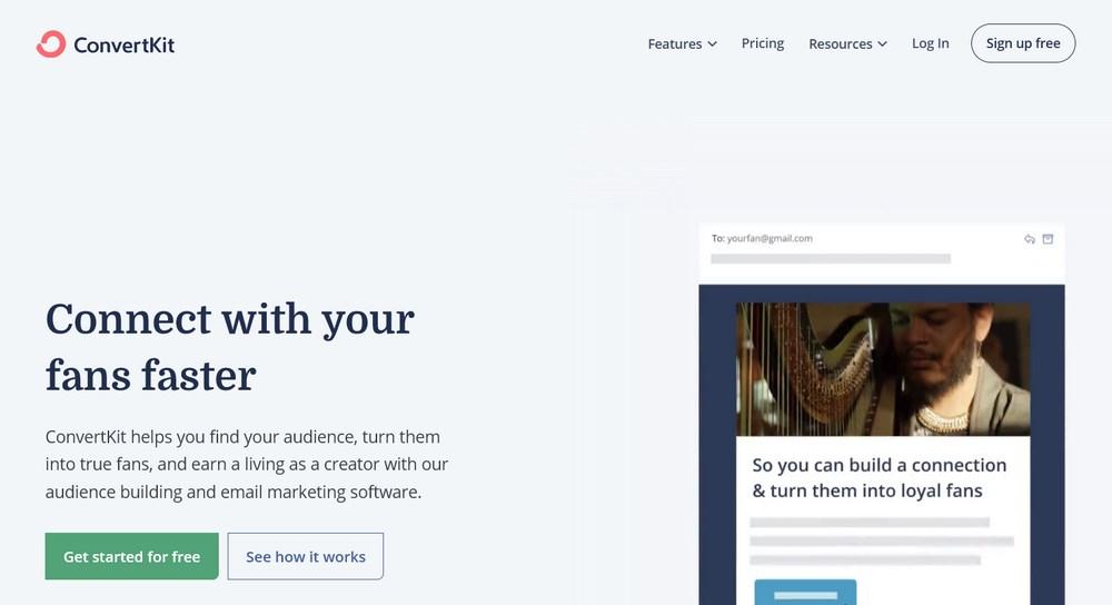 ConvertKit Email Marketing tool