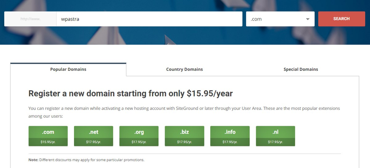 Domain pricing