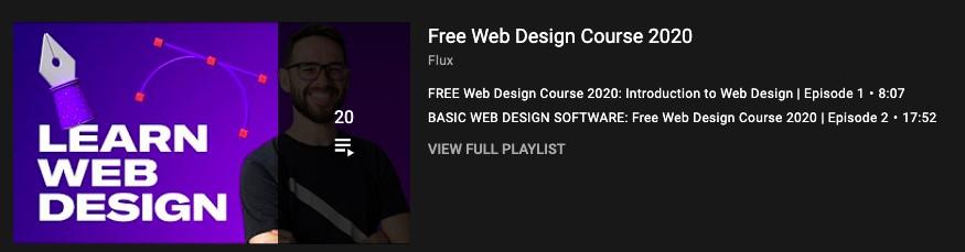 Free web design course by flux