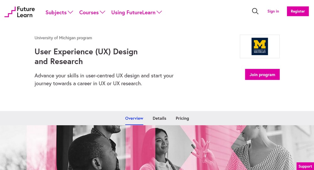 FutureLearn UX design and research