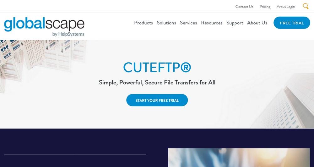 Globalscape's CuteFTP Software