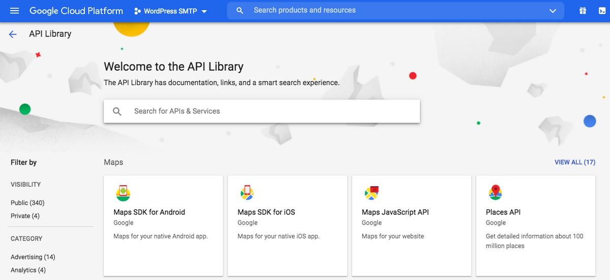 Google cloud api library