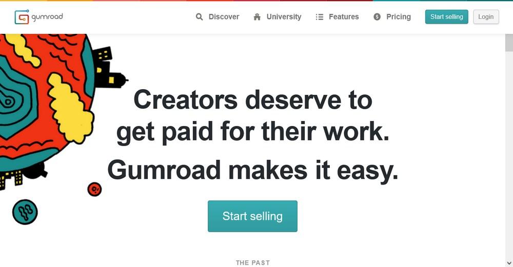 Gumroad homepage