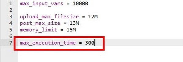 Increase the PHP Timeout Limit