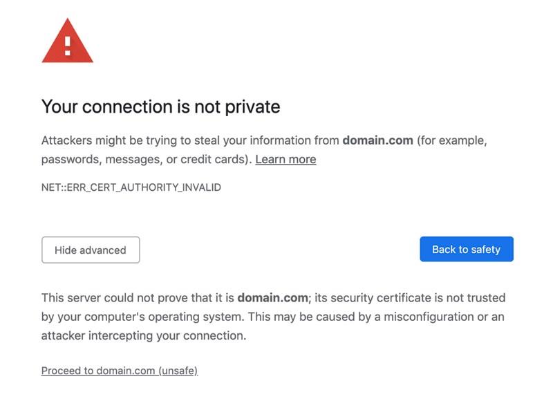 NET-ERR_CERT_AUTHORITY_INVALID error example
