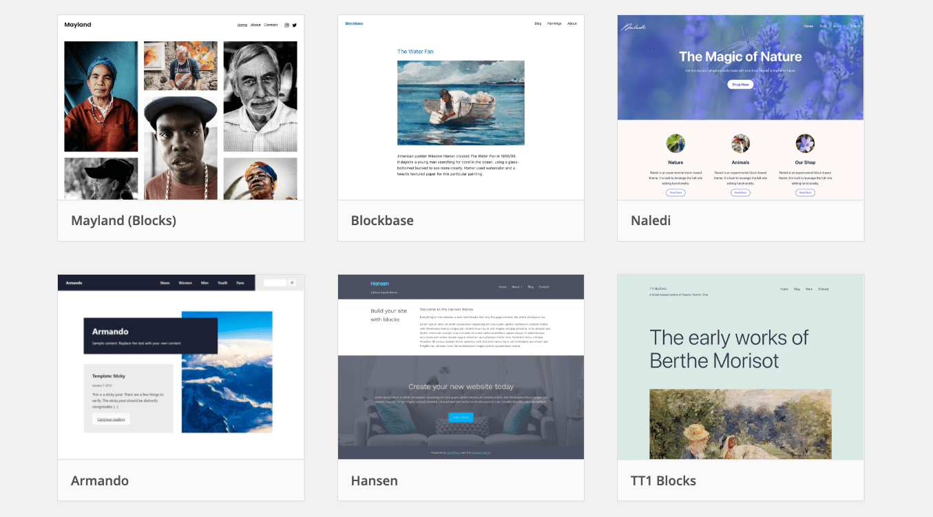 List of WordPress Themes for Full-Site Editing and Resources