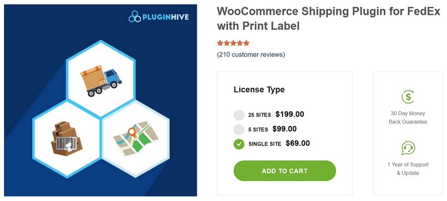 WooCommerce FedEx Shipping Plugin with Print Label PluginHive