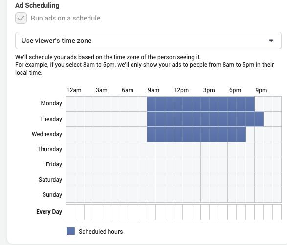 Ad scheduling.