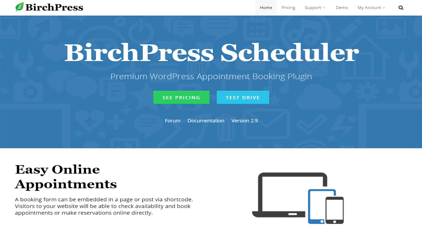BirchPress lets users create easy forms for booking pages and posts.