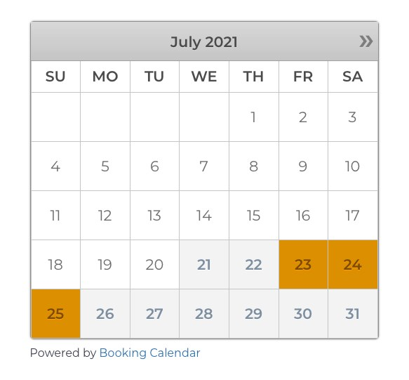 calendar view item