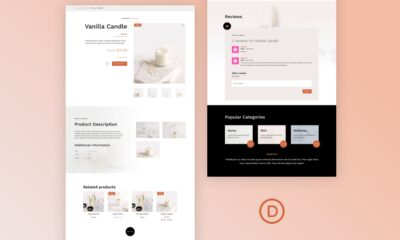 Download a FREE Product Page Template for Divi's Candle Making Layout Pack