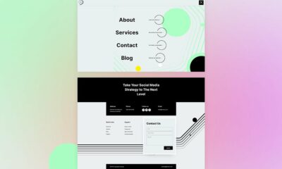 Download a FREE Header & Footer for Divi's Social Media Consultant Layout Pack